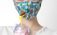 Breathable Cotton Reusable Fabric Face Cloth Face Cover with Straw Drinking Hole