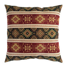 """Tapestry Ethnic Kilim Pattern Burgundy Red Green 20""""x20"""" Decorative Pillow Cover"""