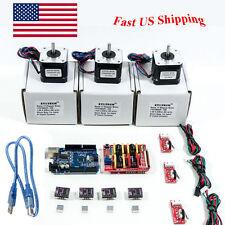 Arduino CNC Kit w/ Atmega16u2 UNO + Shield+ Stepper motors DRV8825 Endstop
