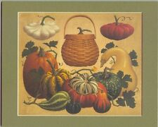 10 x 8 Longaberger Pumpkin Basket Print in Mat New in plastic bag