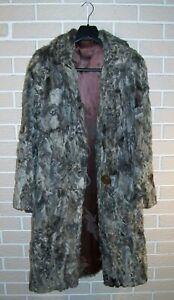 Vintage Grey Curly Persian Lamb Fur Coat
