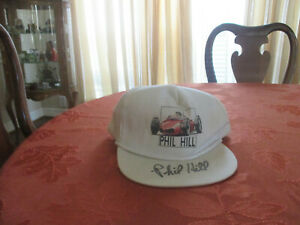 Phil Hill autographed hat