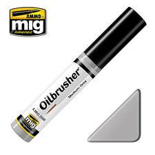 Ammo Of MIG A.MIG 3509 - Oilbrusher: Medium Grey