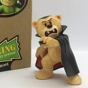 💚 'BAD TASTE BEARS' COLLECTABLE MONSTER BEAR FIGURINE 'DRACULA' BOXED!