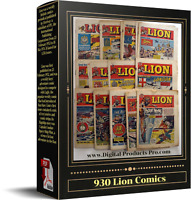 🔥 930 Lion Comics (1952 to 1973) + Specials +File Reading Program Download Only