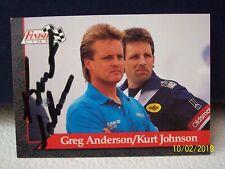 Kurt Johnson 1993 Finish Line #74 RACING NHRA Winston DRAG Racing CARD Signed