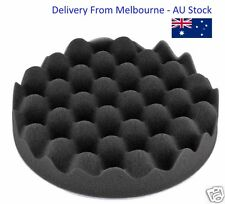 "8"" Black Foam Waffle Buff Pad For Car Detailing Polish - Ultra Soft"