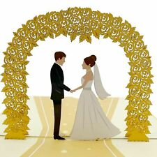 Wedding Day Gold 3d pop up card