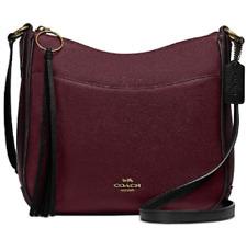 🌺🌹Coach Colorblock Chaise Crossbody Pebble Leather Vintage Mauve Multi 38696