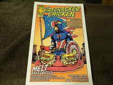"7/2015 ""Firecracker Chicken"" MELT BAR & GRILLED Poster - CAPTAIN AMERICA"