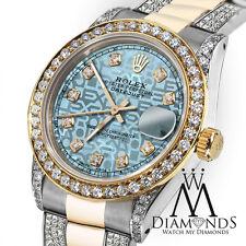 Women's 31mm Rolex Oyster Perpetual Datejust Jubilee Ice Blue Diamond Dial