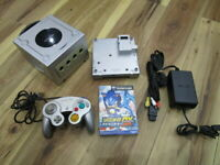 Nintendo GameCube Console Silver w/controller Cable GameBoy Player GC Japan o644