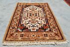 Authentic Hand Knotted Vintage indo Wool Area Rug 2 x 2 Ft (11975 KBN)
