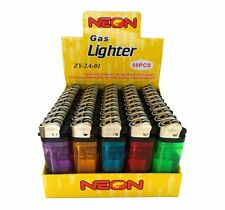 250 Neon Brand Disposable Lighters Butane Cigarette Cigar Bulk Wholesale Lot