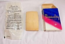 Vtg Personality Turtle Oil Soap From England Bath Size 5 oz Pearl White Unused