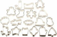 NEW 18 Piece Wilton COOKIE CUTTER SET Christmas Baking Sugar Cookies Playdough +