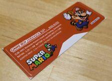 Nintendo Game Boy Advance SP GBA SP Super Mario Sticker Label  MINT