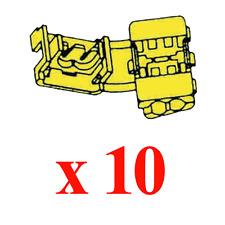 10 Raccords Instantanes Couleur Jaune pour Câble de 4 à 6 mm²