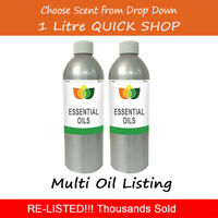 1L Essential Oil Pure & Natural Aromatherapy - Choose from 56 Oils