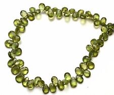"""Natural Gem Bottle Green Apatite 4x6 to 7x9MM Pear Shape Briolette Beads 9"""""""