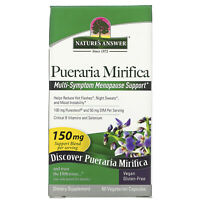 Nature s Answer Pueraria Mirifica 150 mg 60 Vegetarian Capsules Cruelty-Free,