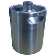 NEW STYLE 64oz (2L) Mini Keg Growler Stainless Steel USES UNIVERSAL GROWLER LID