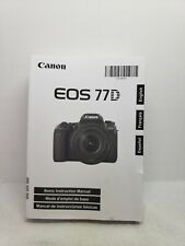 New ListingCanon Eos 77D Camera Basic Instructions Manual Book/ User Guide