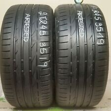 2 Tires 245 35 19 BRIDGESTONE POTENZA S001 (65-75% Tread) 93Y