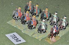 25mm Guerra de los siete años caballería francesa 12 de caballería (7301) De Metal Pintada