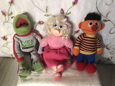 Vintage Muppets University Plush Lot Kermit & Miss Piggy! 1989 & Ernie! Look!
