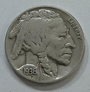 LIBERTY Buffalo Nickel five cents USA Coin Collection Genuine UNCIRCULATED 1936