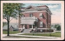 Anniston Al Us Weather Bureau Dept of Agriculture Antique Postcard Old Vtg Pc