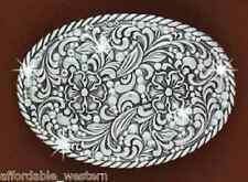 RHINESTONE COWGIRL ~Crystal Western Belt Buckle~ Oval 37540