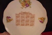 """Dresden China Calendar Plate 1908, 9 1/4"""""""