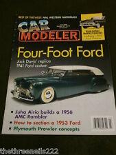 CAR MODELER - 1941 FORD CUSTOM - JULY 1998