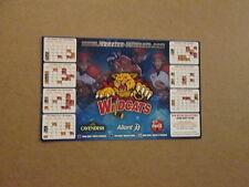 QMJHL Moncton Wildcats Circa 2007-2008 Magnet Schedule