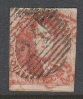 Belgium - 1851, 40c Carmine King Leopold - 3 Margins - Used - SG 8 (b)
