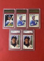 1989 Ken Griffey Jr Rookie (5) Card Lot Gem Mint 10!!2 Are Upper Deck Rookies!!