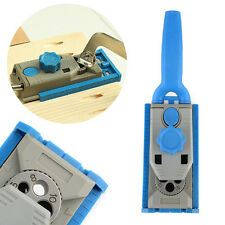 Jig Pocket Hole Drill Round Tenon Locator Woodworking Joinery Joining Tool New