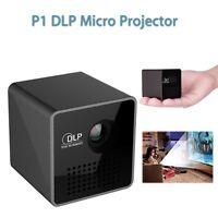Mini Bolsillo Cine En Casa Multimedia,1080P HD P1 LED DLP proyector,USB/TF Viaje