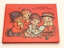 Hallmark VTG Mary Hamilton 70's Autograph Book Little Children Bluebird W/ Box