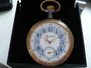 Superbe  montre gousset ancienne régulateur à cartouches, fonctionne,68 mm