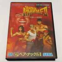 Bare Knuckle 2 Streets of Rage sega md genesis mega drive box  Japanese Import