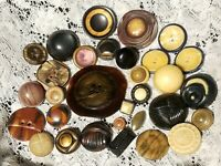 31 Vintage Tight Top & 2 Piece Celluloid Buttons Collector Buttons Lot 86X