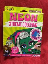 Crayola Neon Extreme Super Bright Monster High Coloring Magic Transformation