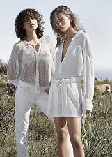 Donna Sheer Camicia, Blusa Taglia M UK 10 NUOVI, Mango