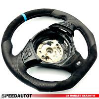 11 Tuning Aplati Alcantara Volant en Cuir M-LENKRAD BMW X1 E84 E90 E91 Bleu