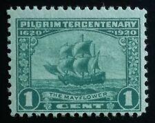 U.S. Scott # 548 1c Pilgrim Tercentenary mint Nh, F appearing