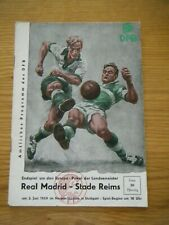 More details for 1959 european cup final programme - real madrid v stade reims