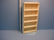 Bookshelf #300 Handcrafted  Unpainted.- Dollhouse Miniature